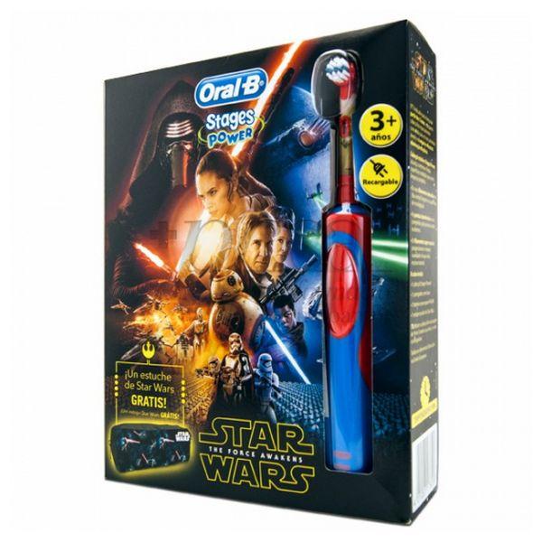 Brosse à dents électrique Star Wars Oral-B Stages Power Vitality Bleu Rouge