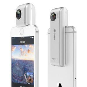 Caméra 360º pour Smartphone Insta360 Micro SD iOS 8+ Argenté