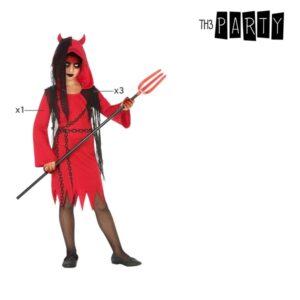Déguisement pour Enfants Diablesse Rouge Noir (4 Pcs)