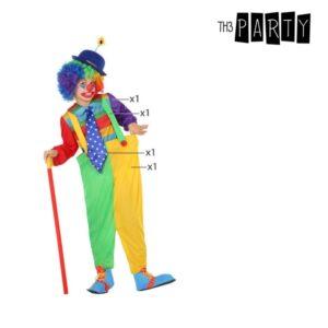 Déguisement pour Enfants Clown Vert Jaune (4 Pcs)