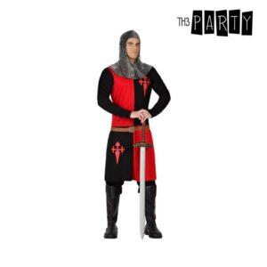 Déguisement pour Adultes Chevalier des croisades Noir Rouge (2 Pcs)