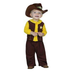 Déguisement pour Bébés Cowboy 113244 Marron Jaune (2 Pcs)