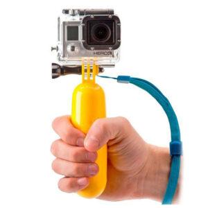Bâton Selfie Flottant pour Caméra de Sport Jaune