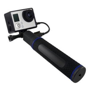 Bâton Selfie avec Power Bank pour Caméra de Sport 5200 mAh Noir