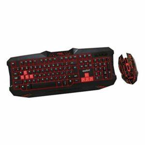 Clavier et Souris Gaming approx! APPBAT Noir Rouge