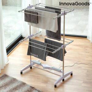 Séchoir électrique pliable avec flux d'air Breazy InnovaGoods (12 Barres) 24W