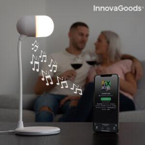 Lampe LED avec haut-parleur et chargeur sans fil Akalamp InnovaGoods
