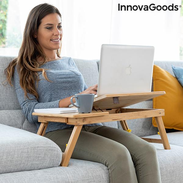 Table pliante d'appoint en bambou Lapwood InnovaGoods