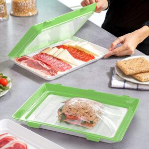 Plateaux alimentaires réutilisables Vacpack InnovaGoods (Pack de 2)