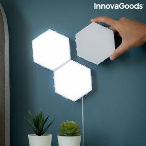 Ensemble de Panneaux LED Modulaires Magnétiques et Tactiles Tilight InnovaGoods (Pack de 3)