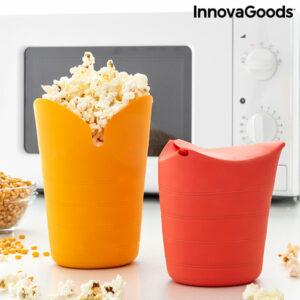 Bols à Pop-corn Pliables en Silicone Popbox InnovaGoods (Pack de 2)