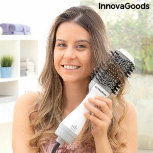 Brosse Volume Sèche-Cheveux Ionique Volumio InnovaGoods 1000W Blanc/Gris