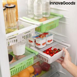 Rangement Réglable pour Réfrigérateur Friwer InnovaGoods (pack de 2)