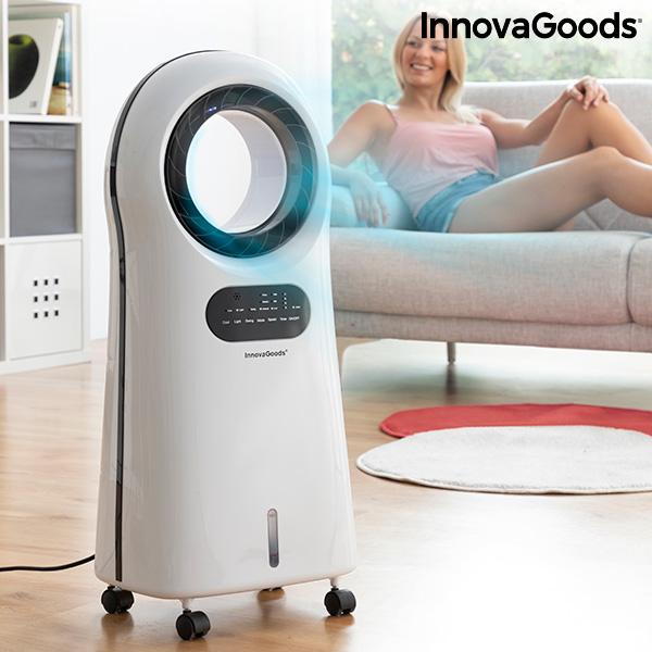 Climatiseur d'Évaporation Ioniseur Sans Lame avec LED O·Cool InnovaGoods 90W
