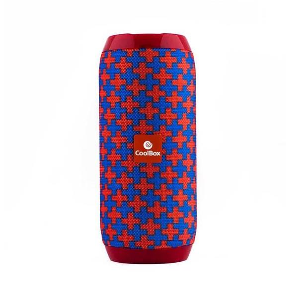 Haut-parleurs bluetooth CoolBox COOLTUBE 10W 1200 mAh FM Rouge Bleu
