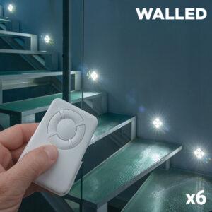 Spots LED WalLED Mini à Télécommande (pack de 6)