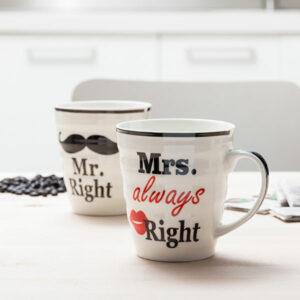 Tasses Mr. Right & Mrs. Always Right