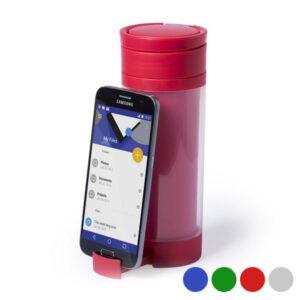 Gourde en Polypropyplène avec Support pour Téléphone Portable (390 ml) 145498