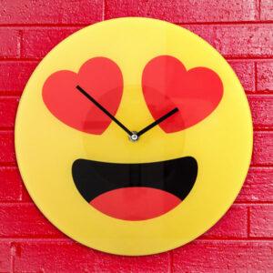 Horloge Murale Émoticône Cœurs