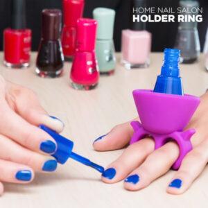 Anneau de Support pour Vernis à Ongles Home Nail Salon