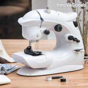 Machine à Coudre Compacte InnovaGoods 6 V 1000 mA Blanche