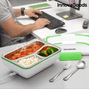 Boîte Déjeuner Électrique Pro InnovaGoods 50W Blanche Verte