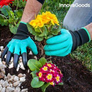 Gants de Jardinage avec Griffes pour Creuser InnovaGoods