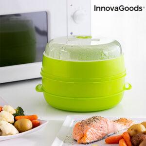 Cuiseur-Vapeur Double pour Micro-Ondes Fresh InnovaGoods