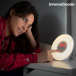 Radio-Réveil avec Effet Lever du Jour InnovaGoods LED FM USB Blanc