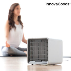 Mini Climatiseur Évaporatif Portable avec LED Freezy Cube InnovaGoods
