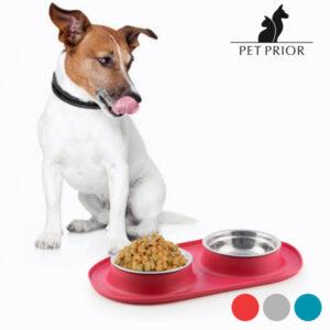 Mangeoire-Abreuvoir Antidérapant pour Animaux Pet Prior
