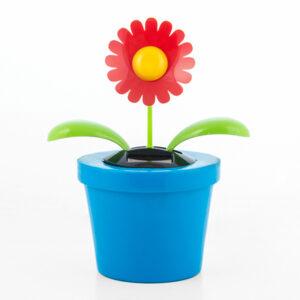 Fleur Décorative Solaire avec Mouvement