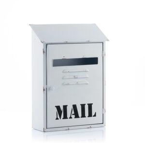 Boîte aux Lettres Métallique Blanche Mail