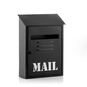 Boîte aux Lettres Métallique Noire Mail
