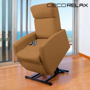 Fauteuil Relax Masseur Lève-personne Cecorelax Compact Camel 6006
