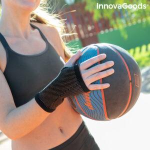 Bracelet de soutien du poignet en fil de cuivre et en charbon de bambou Wristcare InnovaGoods