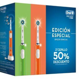 Brosse à dents électrique Oral-B PRO600 3D Violet Vert Batterie rechargeable