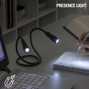 Lampe Torche Led Double Flexible Magnetique Presence Light