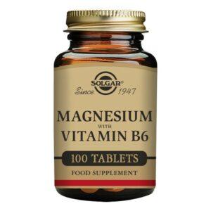 Magnésium + Vitamine B6 Solgar (100 comprimés)