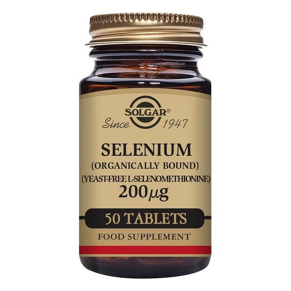 Sélénium Solgar 200 mcg (50 comprimés)