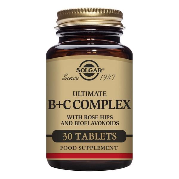 Ultimate B + C Complex Solgar (30 comprimés)