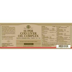 Super Cod Liver Oil Complex Solgar (60 Capsules)