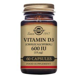 Vitamine D3 (cholécalciférol) Solgar 600 iu (60 Capsules)